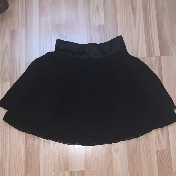 Black Tiered skirt
